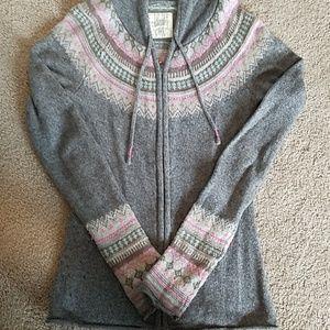 Ski zip up cardigan sweater